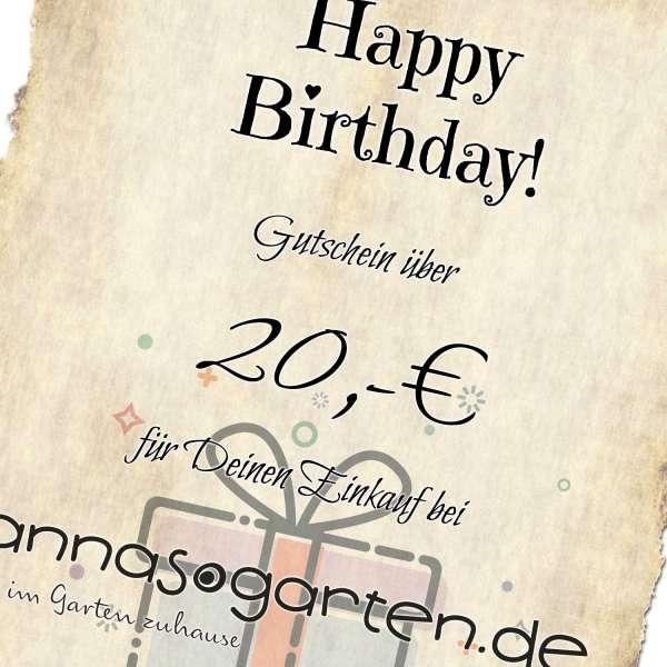 Gutschein Geburtstag