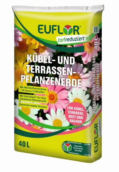 EUFLOR Kübel- und Terrassenpflanzenerde