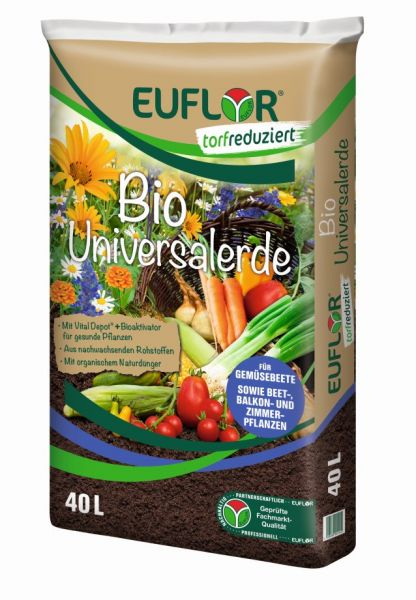 EUFLOR Bio Universalerde torfreduziert 40 L Sack